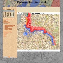 Cartographie 1914 - 1918 - Carte des positions au 1er juillet 1918