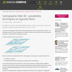 Cartographie Web 3D - possibilités techniques en logiciels libres