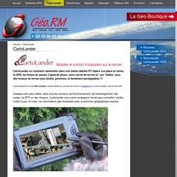 CartoLander, outil de cartographie nomade professionnel (GPS) pour tous.