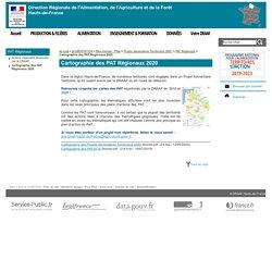 DRAAF HAUTS DE FRANCE 12/05/20 Cartographie des PAT Régionaux 2020