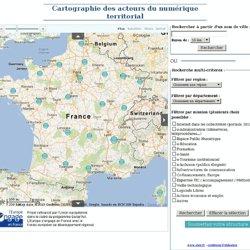 Cartographie des acteurs du numérique territorial