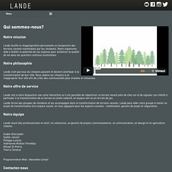 Lande : Cartographier. Accompagner. Transformer.