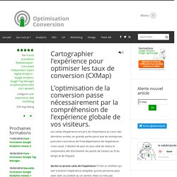 Cartographier l'expérience pour optimiser les taux de conversion (CXMap) - user experience, web marketing - Conseil, Expertise et formation Analytics - Optimisation Conversion