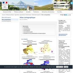 Atlas cartographique / Observatoire agricole / Agriculture en Haute-Savoie / Agriculture / Politiques publiques / Accueil
