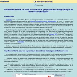 GapMinder World: un outil d'exploration graphique et cartographique de données statistiques