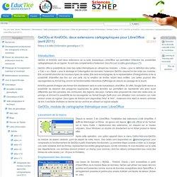 GeOOo et KmlOOo, deux extensions cartographiques pour LibreOffice (avril 2011)