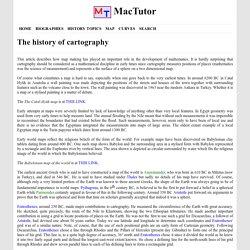 Cartography - MacTutor History of Mathematics