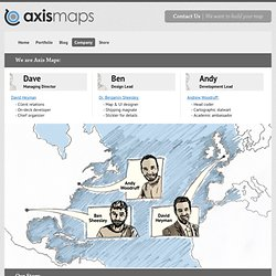 Axis Maps Company - Cartography. Visualization. Design.