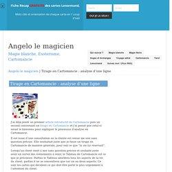 Tirage en Cartomancie : analyse d'une ligne - Angelo le magicien