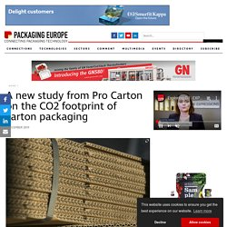 A new study from Pro Carton on the CO2 footprint of carton packaging - Packaging Europe