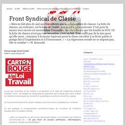 Carton rouge à la loi travail - Front Syndical de Classe