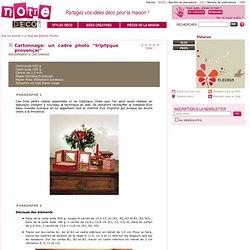 """Cartonnage: un cadre photo """"triptyque provençal"""""""