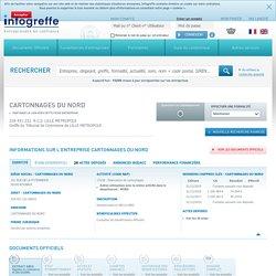 CARTONNAGES DU NORD à ROUBAIX (328451232), CA, bilan, KBIS