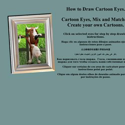 Cartoon Eyes, Mix and Match to Create your own Cartoons.