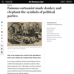 Famous cartoonist made donkey and elephant the symbols of political parties