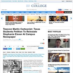 Trayvon Martin Cartoonist: Texas Students Petition To Reinstate Stephanie Eisner At Campus Newspaper