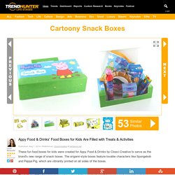 "Cartoony Snack Boxes : ""food boxes for kids"""
