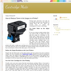 Cartridge Mate: How to Reduce Toner or Ink Usage on a Printer?