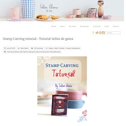 » Blog Archive » Stamp Carving tutorial- Tutorial Sellos de goma