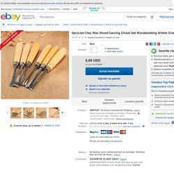 6pcs/set Clay Wax Wood Carving Chisel Set Woodworking Artists Craft Hand Tool