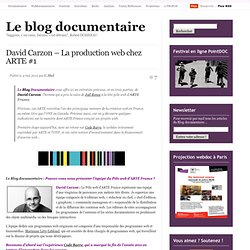 David Carzon – La production web chez ARTE #1