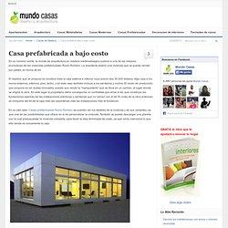 Casa prefabricada a bajo costo
