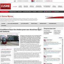 Casablanca lance les études pour une deuxième ligne de tramway - Transport - Logistique