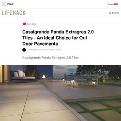 Casalgrande Panda Extragres 2.0 Tiles - An Ideal Choice for Out Door Pavements