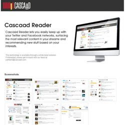 Cascaad - Connect your interests