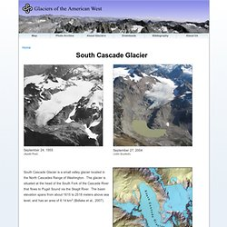 More information on the monitoring of the South Cascade Glacier
