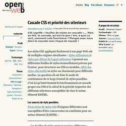 Cascade CSS et priorité des sélecteurs