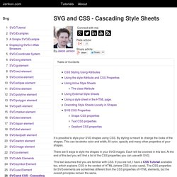 SVG and CSS - Cascading Style Sheets