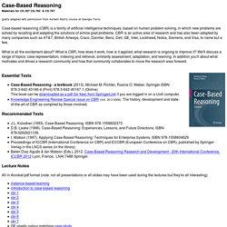Case-Based Reasoning Resources