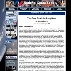 The Case for Colonizing Mars, by Robert Zubrin