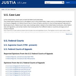 US Case Law, Court Opinions & Decisions