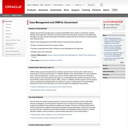 Case Management and CRM for Government