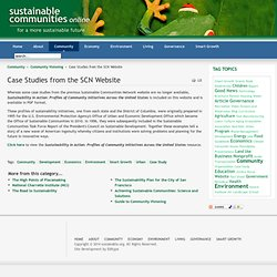 Case Studies from the SCN Website