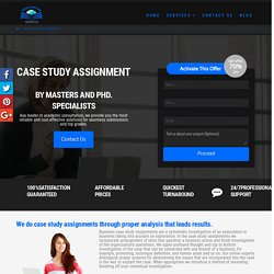 Case Study Assignments Help Online