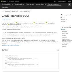 CASE (Transact-SQL)
