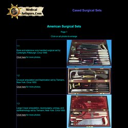 Cased American surgical sets from the 1800's