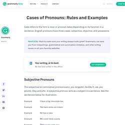 Cases of Pronouns: Rules and Examples
