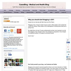 CasesBlog: Why you should start blogging in 2011