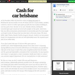 Cash for car brisbane
