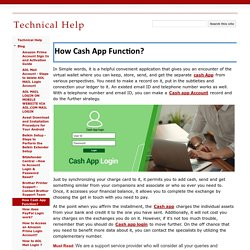 How Cash App Function? - Technical Help