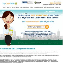 Cash House Sale Companies
