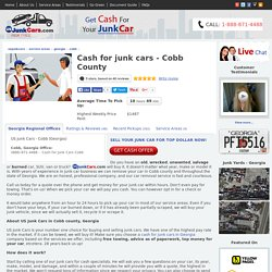 Sell Junk Car Cobb County, Service Areas