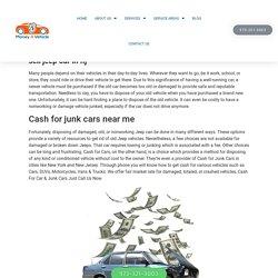Cash for Junk Cars - Money4Vehicle