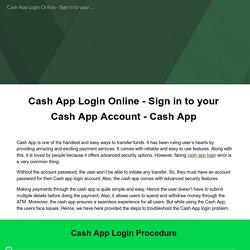 Cash App Login Online - Sign in to your Cash App Account - Cash App