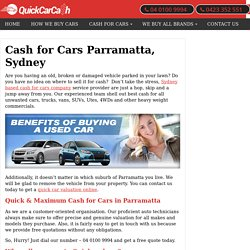 Cash for Cars Parramatta - Sell Your Car Parramatta, Sydney - Free Car Removal NSW