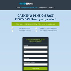 Cash in pension or cash from my pension help guide
